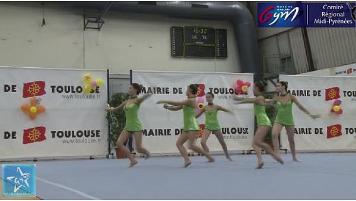 Gymnastique GR Trophée Zone DC4 Cad/Jun/Sen : l'ensemble de l'Etoile Gymnique de Colomiers se classe troisième