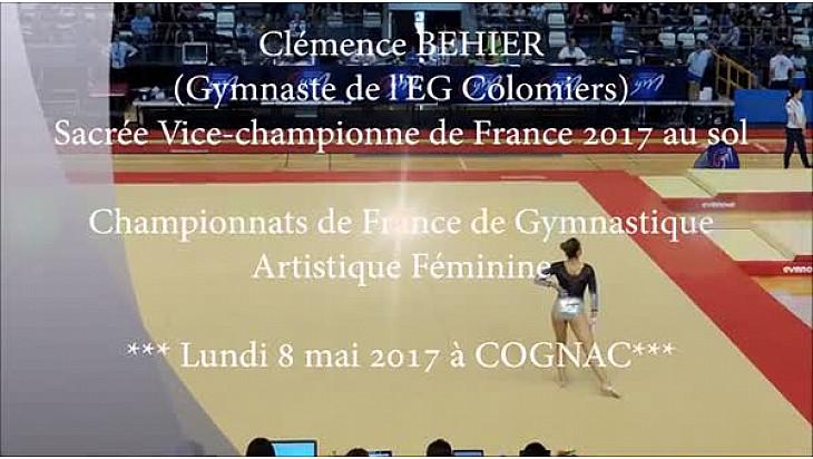 Clémence Behier est sacrée Vice-Championne de France de Gymnastique au sol